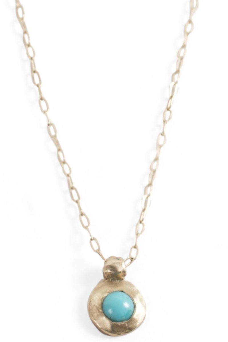 "<p><strong>Catbird</strong> necklace, $276, <a href=""http://www.catbirdnyc.com/tiny-turquoise-necklace.html"" target=""_blank"">catbirdnyc.com</a>.</p>"