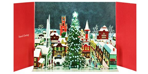 "<p><strong>The Metropolitan Museum of Art Store</strong> Gordon: Village Square Pop-Up Holiday Cards, $17.95, <a href=""http://store.metmuseum.org/holiday-cards/gordon-village-square-pop-up-holiday-cards/invt/80022141"" target=""_blank"">metmuseum.org</a>.</p>"