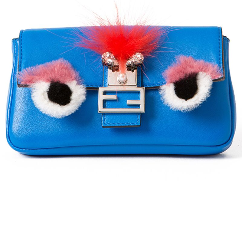 "<p><strong>Fendi</strong> micro monster bag, $1,550, <strong><a href=""https://shop.harpersbazaar.com/designers/f/fendi/micro-baguette-monster-7062.html"" target=""_blank"">shopBAZAAR.com</a></strong>.</p>"