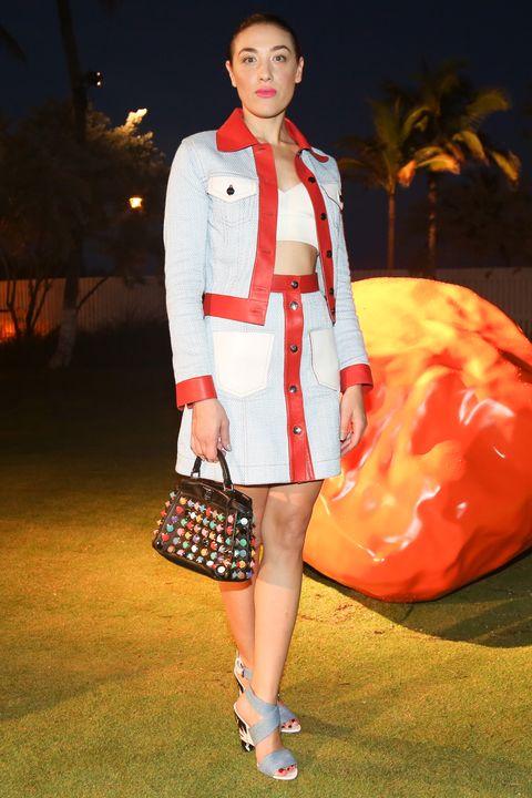 Outerwear, Red, Collar, Bag, Style, Orange, Fashion accessory, Blazer, Street fashion, Fashion,