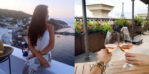 Drinkware, Drink, Stemware, Glass, Barware, Wine glass, Tableware, Summer, Champagne stemware, Watch,