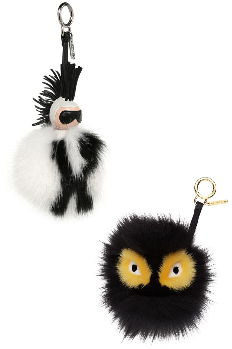 """<p>The certified street-style essentials. </p><p><br></p><p><strong>Fendi</strong> keychain, $1450, <a href=""""https://shop.harpersbazaar.com/designers/fendi/karlito-fur-keychain/ """" target=""""_blank""""><strong>shopBAZAAR.com</strong></a><span class=""""redactor-invisible-space""""><a href=""""https://shop.harpersbazaar.com/designers/fendi/karlito-fur-keychain/ """"></a>; <strong>Fendi</strong> keychain, $900, <a href=""""https://shop.harpersbazaar.com/designers/fendi/monster-fur-keychain/ """" target=""""_blank""""><strong>shopBAZAAR.com</strong></a><span class=""""redactor-invisible-space"""">.</span><br></span></p>"""