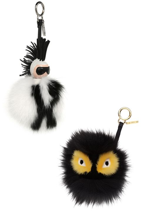 "<p>The certified street-style essentials. </p><p><br></p><p><strong>Fendi</strong> keychain, $1450, <a href=""https://shop.harpersbazaar.com/designers/fendi/karlito-fur-keychain/ "" target=""_blank""><strong>shopBAZAAR.com</strong></a><span class=""redactor-invisible-space""><a href=""https://shop.harpersbazaar.com/designers/fendi/karlito-fur-keychain/ ""></a>; <strong>Fendi</strong> keychain, $900, <a href=""https://shop.harpersbazaar.com/designers/fendi/monster-fur-keychain/ "" target=""_blank""><strong>shopBAZAAR.com</strong></a><span class=""redactor-invisible-space"">.</span><br></span></p>"