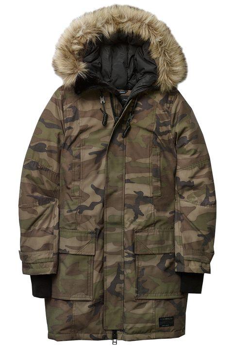 Brown, Sleeve, Textile, Outerwear, Khaki, Coat, Collar, Jacket, Fur clothing, Natural material,