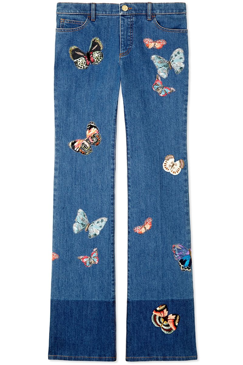"<p><strong>Valentino</strong> jean, $3,590, <strong><a href=""https://shop.harpersbazaar.com/designers/v/valentino/embroidered-butterfly-pattern-jean-7162.html"" target=""_blank"">shopBAZAAR.com</a></strong><a href=""https://shop.harpersbazaar.com/designers/v/valentino/embroidered-butterfly-pattern-jean-7162.html""></a>.</p>"