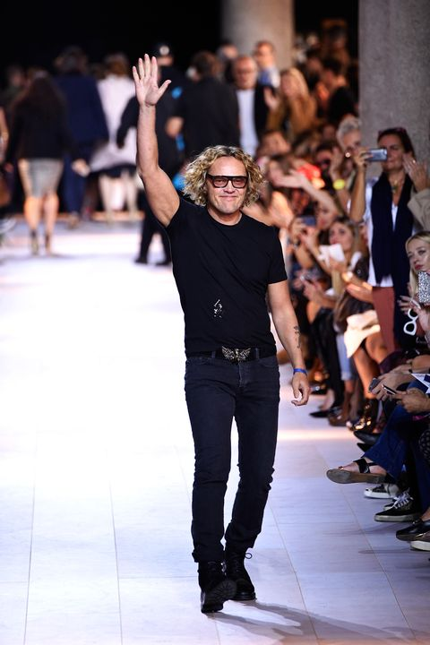 <p> In March, Peter Dundas was appointed creative director at Roberto Cavalli. He was previously at the helm of Emilio Pucci and worked on the design side at the house of Roberto Cavalli from 2002–2005, which inspired his very Italian aesthetic. For Dundas's Fall 2015 debut, he didn't take Cavalli in a new direction, but rather focused on the label's trademarks, such as animal prints, bohemian blouses and slinky evening dresses in vivid hues.</p>