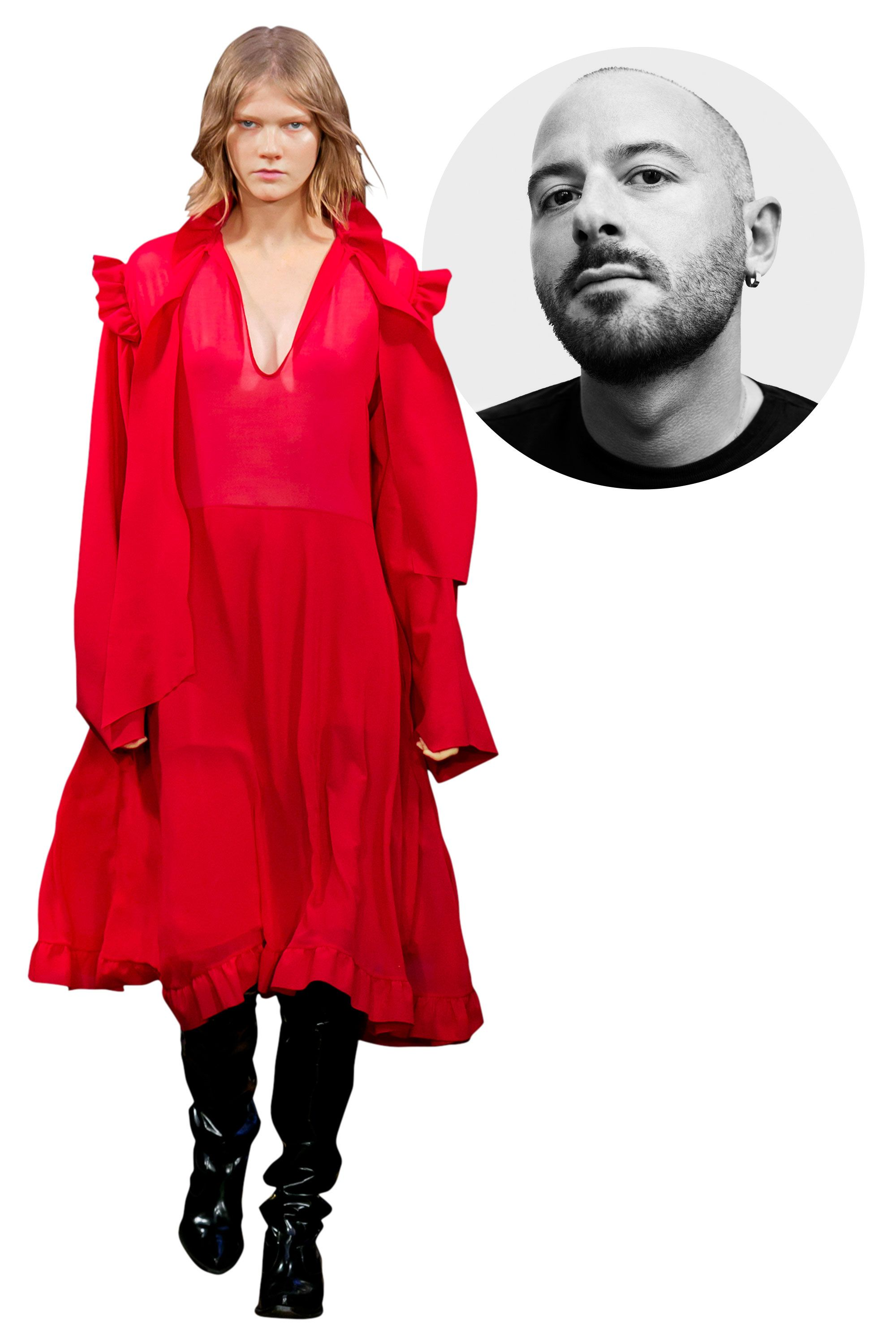 <p>Gvasalia, designer for the sought- after Düsseldorf-based fashion collective Vetements and a veteran of Martin Margiela and Louis Vuitton, became the talk of the town when he was named the new artistic director for Balenciaga, succeeding Alexander Wang. His first collection for the house will be shown this March.</p><p><em>Vetements, Spring 2016</em></p>