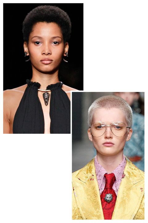 <p>The season's big breakout models both might have short hair, but their résumés are getting longer by the minute. Dominican-born Lineisy Montero graced the Spring 2016 catwalks of Proenza Schouler and Chanel, and has already snagged a Prada campaign. Meanwhile, Ruth Bell's delicate features and fresh buzz cut caught the eye of casting agents for Gucci, Max Mara, and Versace.</p><p><em>Lineisy Montero at Valentino; Ruth Bell at Gucci</em></p>