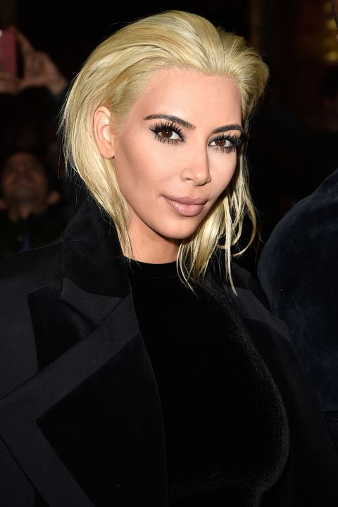 <p>The reality star stole Paris Fashion Week when she arrived at the Balmain Fall 2015 show with a radically different look.  </p>