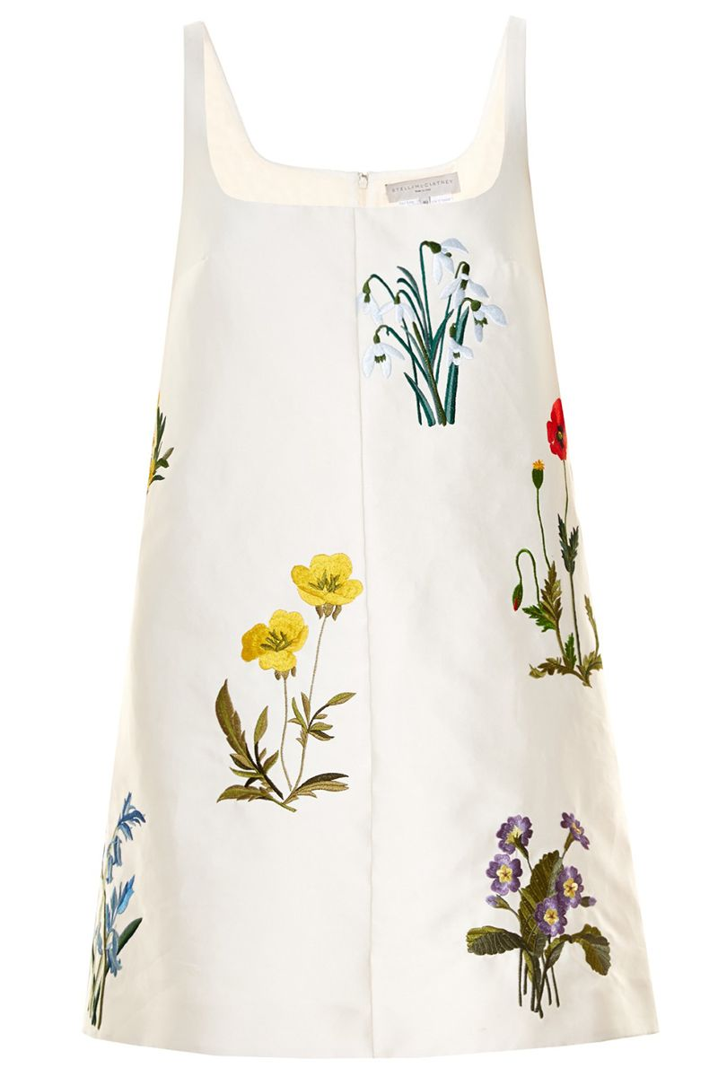 "<p><strong>Stella McCartney </strong>dress, $1,909, <a href=""http://www.matchesfashion.com/us/products/Stella-McCartney-Marianne-botanical-embroidered-duchess-satin-dress-1034485#"" target=""_blank"">matchesfashion.com</a>. </p>"
