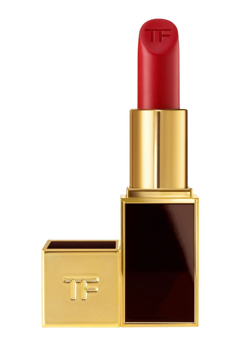 """<p>""""A bit of red can really perk you up while traveling. This one's a great moisturizing lipstick that can double as a lip balm.""""</p><p>$52; <a href=""""http://www.tomford.com/lip-color/T0T3.html?dwvar_T0T3_color=CHERRYLUSH#start=1"""" target=""""_blank"""">tomford.com</a></p>"""