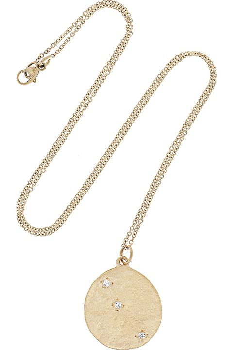 "<p><em>Brooke Gregson ""Aries"" diamond necklace, $1,460, <a href=""http://www.net-a-porter.com/us/en/product/618957"" target=""_blank"">net-a-porter.com</a>.</em> </p>"