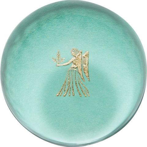 "<p><em>Connor ""Virgo"" paperweight, $75, <a href=""http://www.barneys.com/connor-virgo-paperweight-504173942.html#q=zodiac&fromInstantSearch=false&start=15"" target=""_blank"">barneys.com</a>.</em></p>"