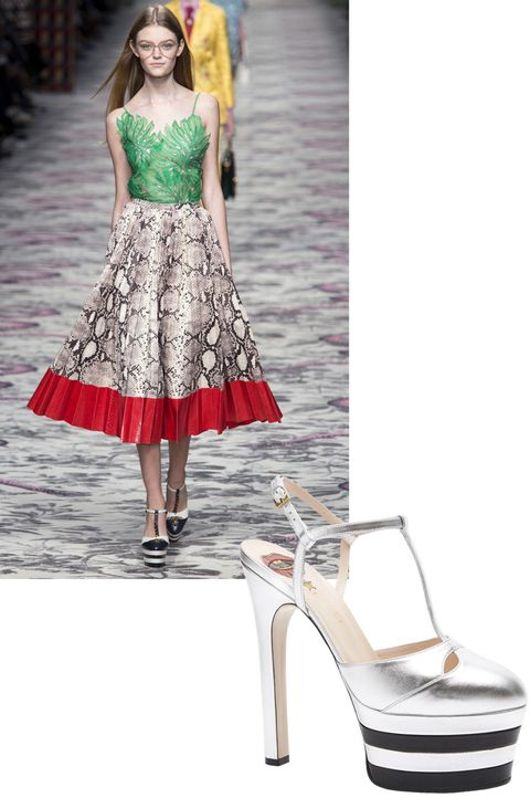"<p>Number one item on Kerry's shopping list: ""Gucci silver and black platforms, to add something fun to all my looks."" </p><p><em><strong>Gucci </strong>shoes, $990, <a href=""https://shop.harpersbazaar.com/designers/g/gucci/round-toe-platform-t-strap-pump-7834.html"" target=""_blank"">shopBAZAAR.com</a>. </em></p>"
