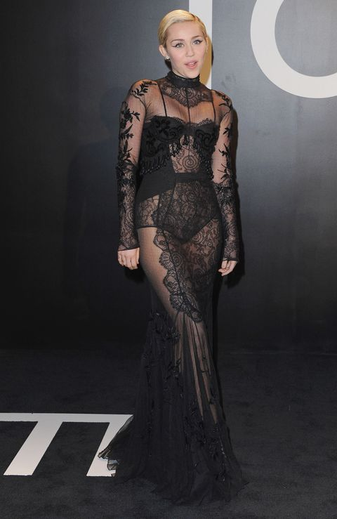 <p>Miley Cyrus at the Tom Ford Fall/Winter 2015 Womenswear Collection Presentation on Feb. 20.</p>