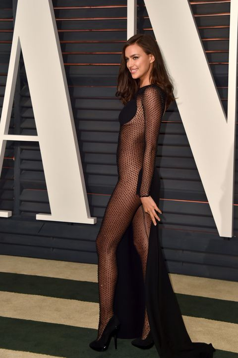 <p>Irina Shayk at the Vanity Fair Oscar Party on Feb. 22.</p>
