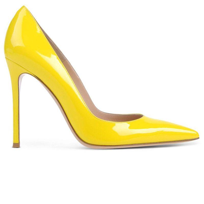 "<p><strong>Gianvito Rossi</strong> pump, $665, <strong><a href=""https://shop.harpersbazaar.com/designers/g/gianvito-rossi/yellow-pump-7304.html"" target=""_blank"">shopBAZAAR.com</a></strong>. </p>"
