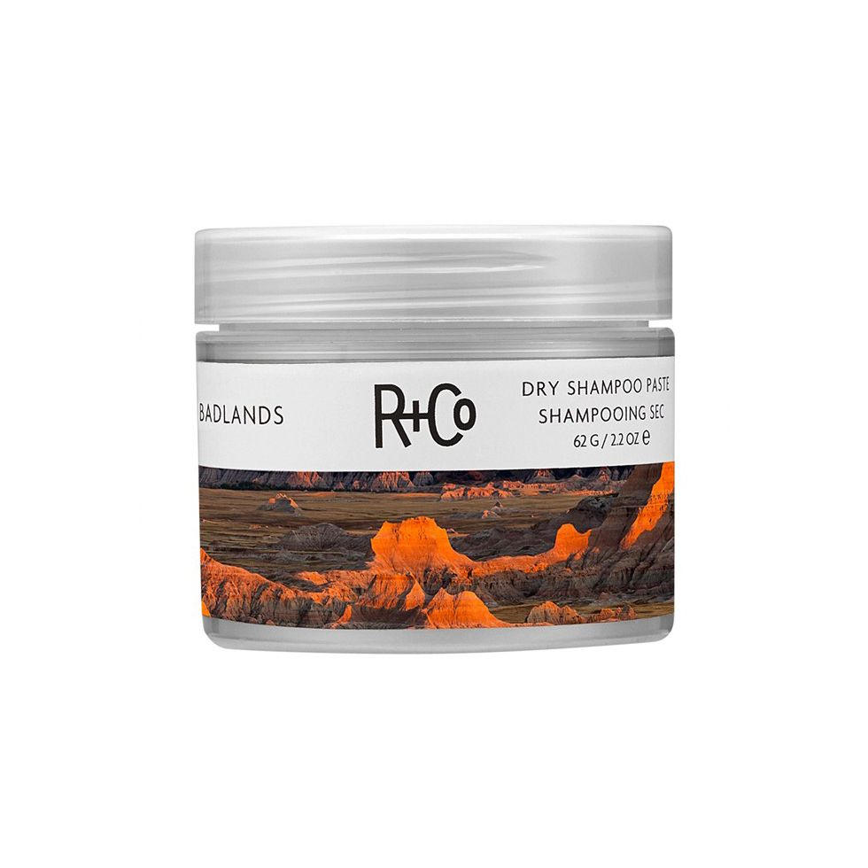 """<p>Up until <a href=""""http://www.marieclaire.com/beauty/news/a15497/dry-shampoo-paste-benefits/"""" target=""""_blank"""">I got my hands on</a> R+Co's Badlands paste, I was that girl who toted a full-size dry shampoo bottle into her carryall. It was a problem. Now I swear by this tiny tub of sweet-smelling paste-to-powder formula for quick refresh and some impromptu gritty texture. </p><p>R+Co Badlands Dry Shampoo Paste, $28; <a href=""""http://bit.ly/1Z8pCGC"""" target=""""_blank"""">birchbox.com</a>.</p>"""