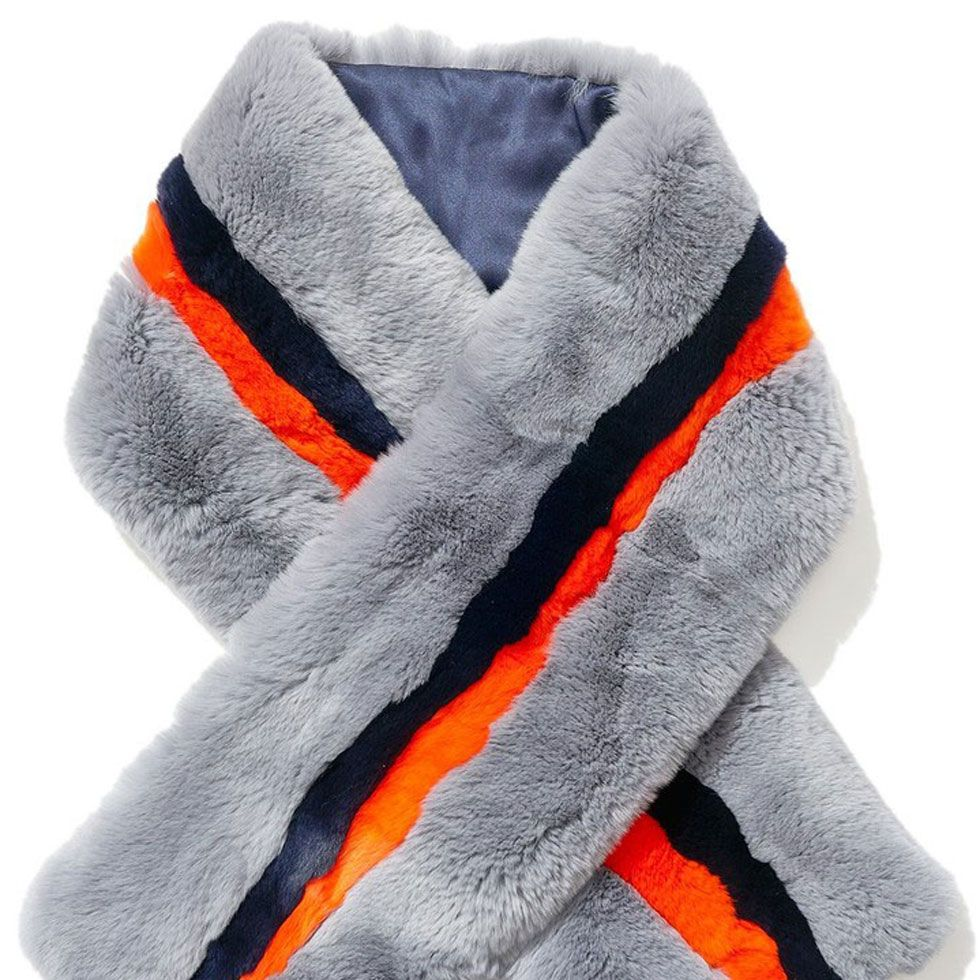 """<p>Designer Nikki <a href=""""https://shop.harpersbazaar.com/designers/k/kule/"""" target=""""_blank"""">Kule</a> describes her aesthetic as """"preppy luxe"""", and this striped rabbit fur scarf is the epitome of just that—cool and glamorous, all wrapped into one.</p><p><br></p><p><strong>Kule</strong> scarf, $650, <a href=""""https://shop.harpersbazaar.com/designers/k/kule/faux-fur-stripe-scarf-7698.html"""" target=""""_blank"""">shopBAZAAR.com</a>.</p>"""