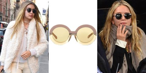 """<p>Add the round sunnies resurgence to your trends to watch list. From Jackie O and Elton John to the style stars of today, wear this revitalized look to throw some seriously chic shade. </p><p><strong><i>Karen Walker </i></strong><i>sunglasses, $300, <a href=""""https://shop.harpersbazaar.com/designers/k/karen-walker/hollywood-pool-sunglasses-7995.html"""" target=""""_blank"""">shopBAZAAR.com</a>. </i><br></p>"""