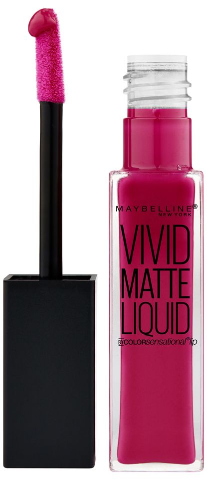 "<p>Take our word for it: This shade looks good on everyone.</p><p><em>Maybelline Vivid Matte Liquid in Berry Boost, $8, <a href=""http://www.drugstore.com/products/prod.asp?pid=569379&catid=183585&cmbProdBrandFilter=61646&aid=338666&aparam=569379&kpid=569379&CAWELAID=120142990000197532&CAGPSPN=pla"" target=""_blank"">drugstore.com</a>.</em></p>"