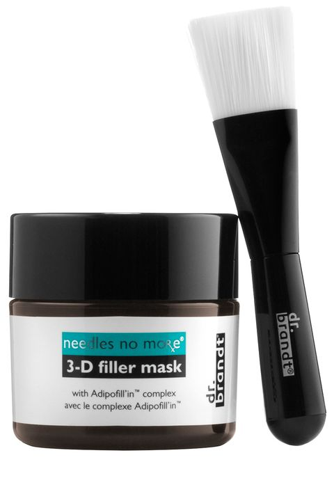 "<p>This volumizing, daily leave-on mask, created by the late dermatologist renowned for his work with next-generation injectables, contains hyaluronic acid (the key ingredient in fillers) and elasticizing amino acids and peptides that stimulate the skin, making undereye contours and cheekbones appear full and youthful. </p><p><strong>Dr. Brandt</strong> Needles No More 3-D Filler Mask, $95, <a href=""http://www.sephora.com/needles-no-more-3-d-filler-mask-P404010"" target=""_blank"">sephora.com</a>.</p>"