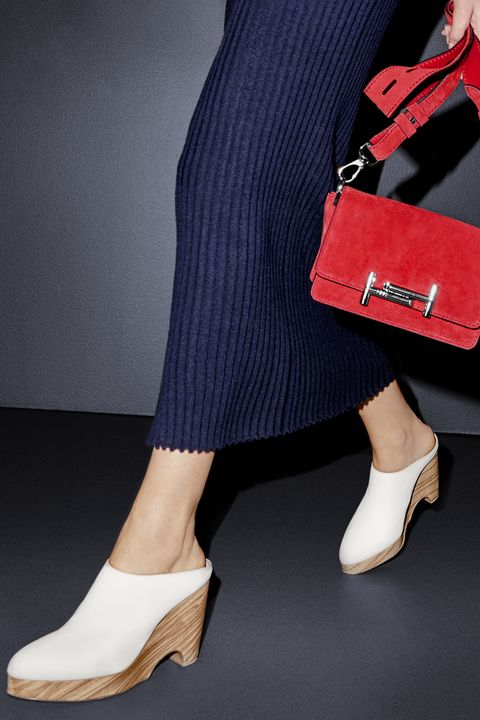 <p>An everyday favorite gets a stylish boost in notice-me red suede.</p><p><em><strong>Tod's</strong> bag, $1,595, 212-644-5945.</em></p><p>Stay grounded in this day-to-night alternative to the traditional heel.</p><p><em><strong>Gabriela Hearst </strong>dress, $595, and shoes, $795, 888-8-BARNEYS. </em></p>