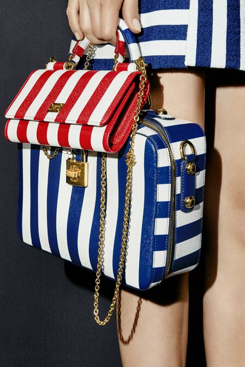 <p>Go small with a mini-purse for your essentials, and let bold, graphic lines energize even the most basic bag. </p><p><em><strong>Dolce & Gabbana</strong> skirt, $3,945, and bags, $1,395-$2,595, 877-70-DGUSA. </em></p>