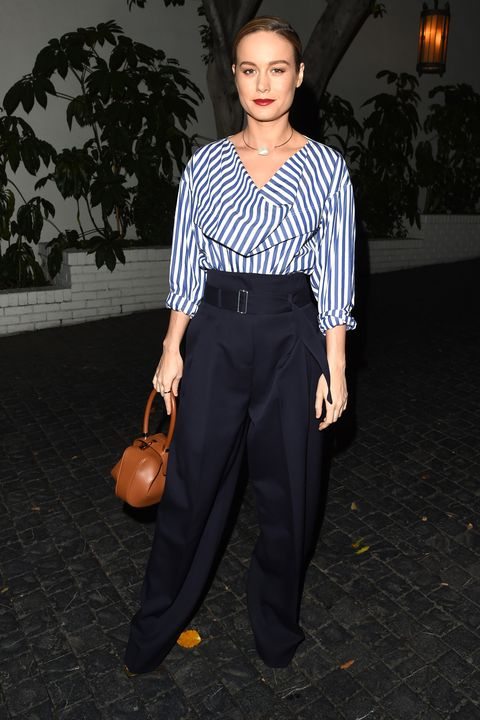 The shirting of the season is characterized by structured draping in crisp poplin and linen. Follow rising star Brie Larson's lead, and pair with smart trousers and a polished leather bag for a sure fire office win.
