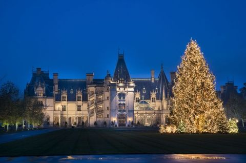 "<p>Not surprisingly, much of Asheville's holiday focus is on <a href=""http://www.biltmore.com/"" target=""_blank"">Biltmore</a>, the historic Vanderbilt mansion, which dresses up lavishly with ribbons, garlands, and sparking lights. Elsewhere in this active mountain town, locals gather to watch Santa rappel down Chimney Rock as a warm-up exercise for his upcoming <a href=""http://www.romanticasheville.com/holidays.htm"" target=""_blank"">Christmas Eve activities</a>. The well-established arts scene in town makes shopping for unique gifts easy at craft shows and studio visits in the River Arts District.</p>"