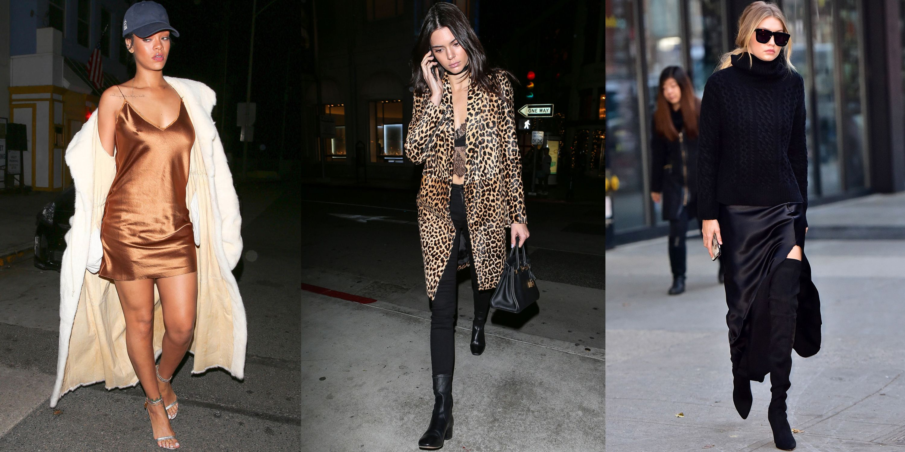 <p>Give your lingerie extra playing time this season à la fashion's favorite style stars—Rihanna, Kendall Jenner and Gigi Hadid. Pair silk pieces with wintry layers and chic extras to transform them from the boudoir to the streets.</p>