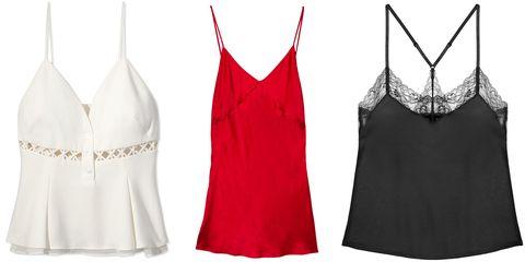 "<p><em></em><em><strong>Jonathan Simkhai </strong>top, $360, <a href=""https://shop.harpersbazaar.com/designers/j/jonathan-simkhai/laced-crepe-slvls-trim-cami-7455.html"" target=""_blank"">shopBAZAAR.com</a>; <strong>Fleur de Mal </strong>slip, $245, <a href=""https://shop.harpersbazaar.com/designers/f/fleur-du-mal/satin-bias-slip-7967.html"" target=""_blank"">shopBAZAAR.com</a>; <strong>Journelle</strong> cami, $58, <a href=""https://shop.harpersbazaar.com/designers/j/journelle/black-laure-cami-7991.html"" target=""_blank"">shopBAZAAR.com</a>.</em> </p>"