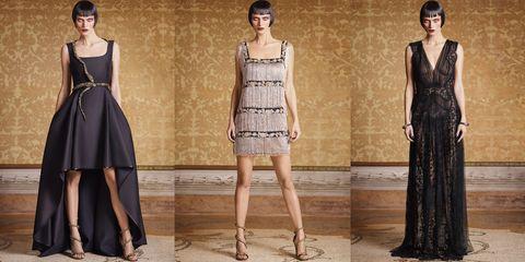 Clothing, Dress, Shoulder, Waist, Formal wear, Style, One-piece garment, Pattern, Fashion, Neck,