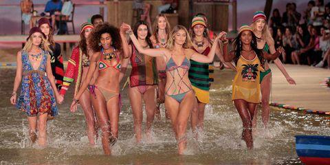Fun, People, Social group, People in nature, Summer, Waist, Swimwear, People on beach, Youth, Bikini,