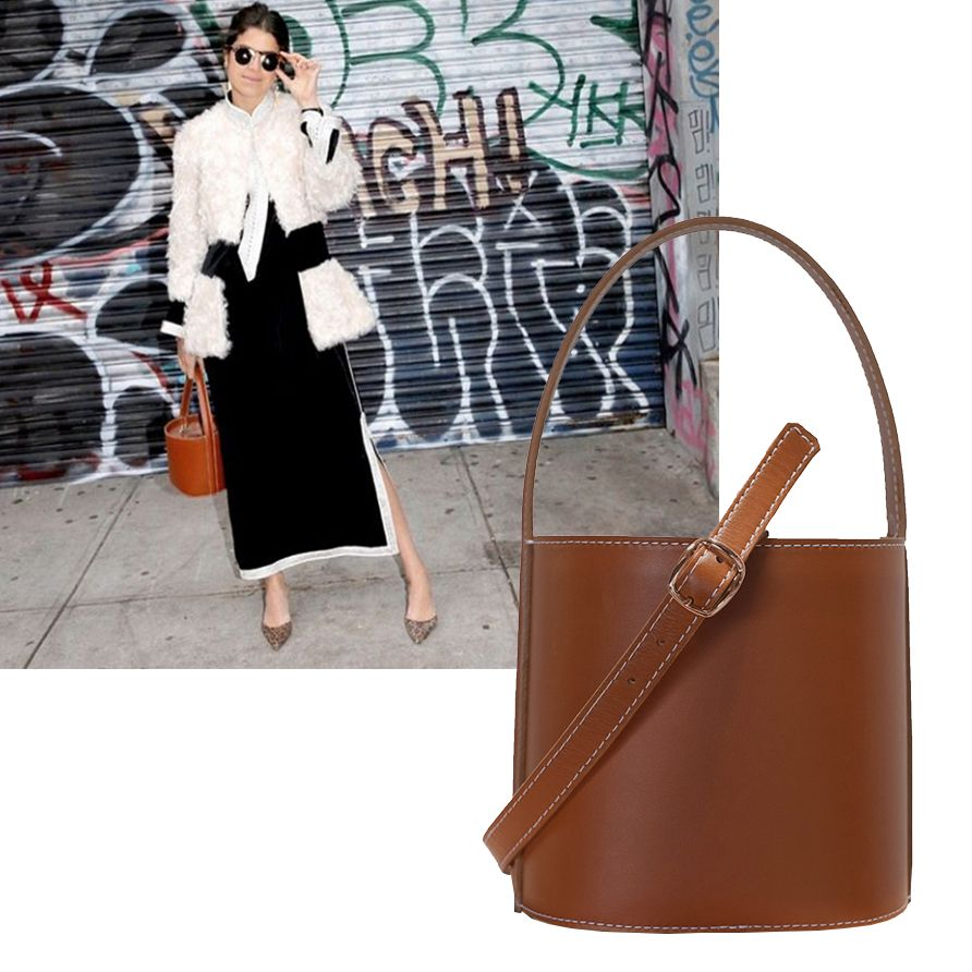 "<p>This classic silhouette is still big on the streets, and new label Staud's adorable mini version (so you're forced to stash only the essentials) is a must-like. </p><p><em>Staud bucket bag, $295, <a href=""https://staud.clothing/product/1573"" target=""_blank"">staud.clothing</a>. </em><br></p>"