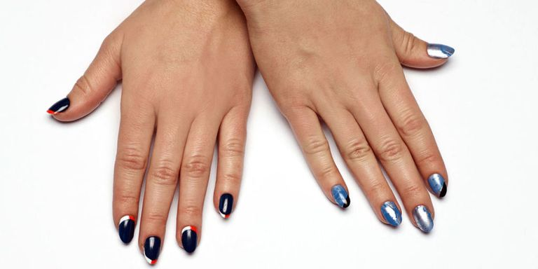 Super bowl 2016 nail art denver broncos carolina panthers because no one looks good in an oversized orange jersey prinsesfo Gallery