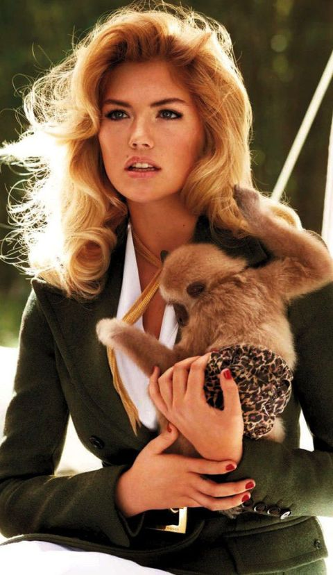 <p>Kate Upton found a new friend, styled by Carine Roitfeld and photographed by Terry Richardson.</p>