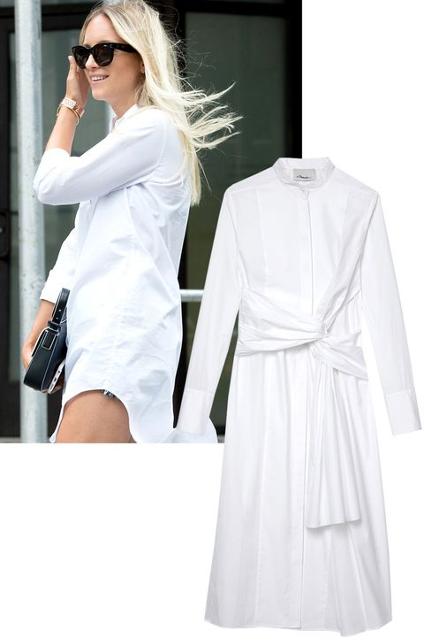 "<p>""The white poplin shirt is not what it used to be. This season brings variations on the classic like you have never seen and will never want to live without. This Phillip Lim dress-version is by far my favorite because the styling possibilities are endless.""</p><p><em><strong>Phillip Lim</strong> shirt dress, $575, <strong><a href=""https://shop.harpersbazaar.com/designers/0-9/31-phillip-lim/twist-detail-cutout-cotton-dress-8404.html"" target=""_blank"">shopBAZAAR.com</a></strong>. </em></p><p><br></p>"