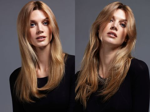 """<p>What makes D.I.Y. blowouts so tricky is all the hand-mirror-eye coordination required when working with a round brush. An easier approach? Just use your fingers. """"Brushless blow dries give an interesting appearance to the hair because the natural texture comes through—it has more depth,"""" says Kevin Mancuso, Global Creative Director for Nexxus New York Salon Care. Spritz damp hair with a heat protector like <a href=""""http://www.nexxus.com/product/detail/890892/products-promend-heatprotectingmist"""" target=""""_blank"""">Nexxus Promend Heat Protecting Mist</a> then use your hands to create tension as you blow dry all over. If you want more body, apply a root-lifter before you start straightening . When you finish, """"It'll look like 'wow, her hair just does that,' says Mancuso.</p>"""
