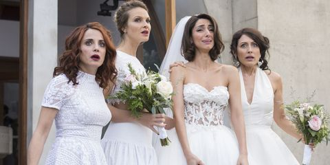 Clothing, Hair, Face, Head, Eye, Sleeve, Dress, Bridal clothing, Shoulder, Photograph,