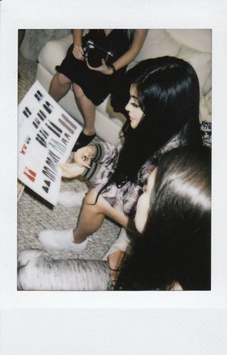 Photograph, Hand, Black hair, Wrist, Snapshot, Photography, Long hair, Paper, Flesh, Stock photography,