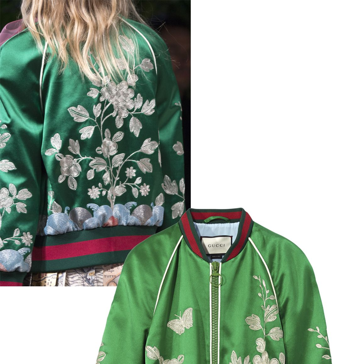 "<p>""The bomber is the only piece of outerwear you need for spring and this Gucci is the ultimate—you really can't get better than this.""</p><p><em><strong>Gucci</strong> bomber, $3,500, <a href=""https://shop.harpersbazaar.com/designers/g/gucci/silk-garden-duchess-bomber-jacket-8014.html"" target=""_blank""><strong>shopBAZAAR.com</strong></a></em><em>.</em><br></p>"