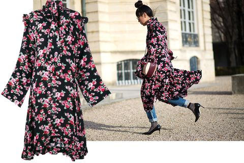 "<p>""The best thing about this shaky time in fashion is the extraordinary talent that rises above all the background noise. To buy a collector piece right now is to buy a piece from Demna Gvasalia's Vetements label.""</p><p><em><strong>Vetements</strong> dress, $2,025, <strong><a href=""https://shop.harpersbazaar.com/designers/v/vetements/floral-ruffle-dress-8281.html"" target=""_blank"">shopBAZAAR.com</a></strong></em><em>.</em><br></p>"