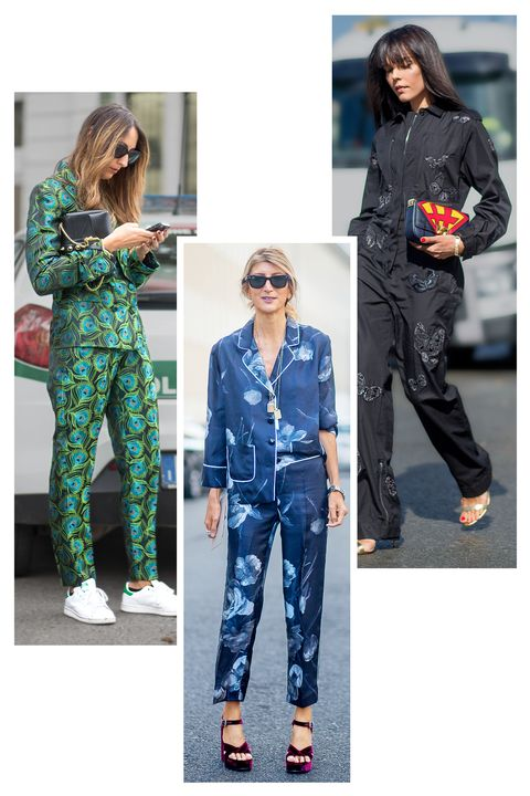 <p>Forget day-to-night—this around-the-clock trend comes straight from the bedroom. Pajama dressing is a blissful marriage of style and comfort. Choose cool prints in silky fabrics finished off with quirky accessories like geometric platforms.</p>