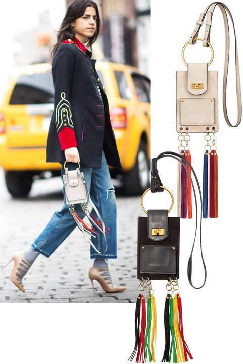 "<p>Leandra Medine was one of the many front-row folk who got their hands on the Chloé ""Jane"" bag—the micro accessory of the moment.</p><p><em><strong>Chloé</strong> gray ""Jane"" bag, $990, <a href=""https://shop.harpersbazaar.com/designers/c/chlo/jane-mini-bracelet-bag-8006.html"" target=""_blank""><strong>shopBAZAAR.com</strong></a></em><em>; <strong>Chloé</strong><span class=""redactor-invisible-space""> black ""Jane"" bag, <strong><a href=""https://shop.harpersbazaar.com/designers/c/chlo/jane-mini-bracelet-bag-with-tassels-8028.html"" target=""_blank"">shopBAZAAR.com</a></strong>.</span></em><br></p>"