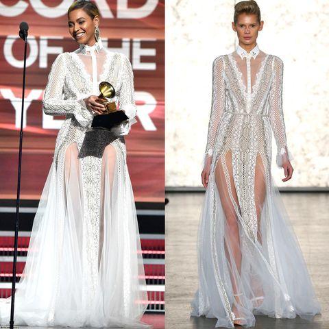 Beyonce Bridal Gown 2016 Grammys Beyonce Wears Bridal Designer
