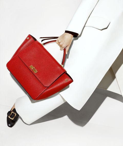 <p>Take hold of the ladylike shape in bold colors, and get comfortable with a traditional slipper-like shoe that doesn't sacrifice style.</p><p><strong>Bally </strong>coat, $2,395, jacket, price upon request, pants, $825, bag, $1,995, and shoes, $650, 212-751-9082.</p>