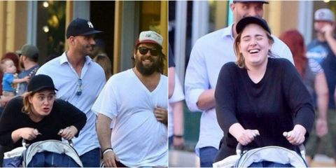 """Adele Took Her Son to Disneyland And Let Him Dress Up as Anna From """"Frozen"""""""