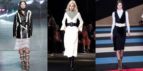Clothing, Footwear, Fashion show, Outerwear, Style, Formal wear, Runway, Fashion model, Fashion, Carpet,