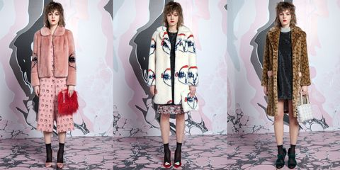 Clothing, Footwear, Leg, Sleeve, Human body, Textile, Pattern, Pink, Style, Fashion model,